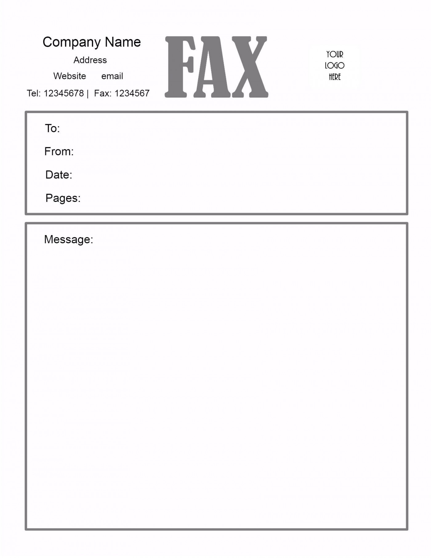 005 Awesome General Fax Cover Letter Template Inspiration  Sheet Word Confidential Example1400