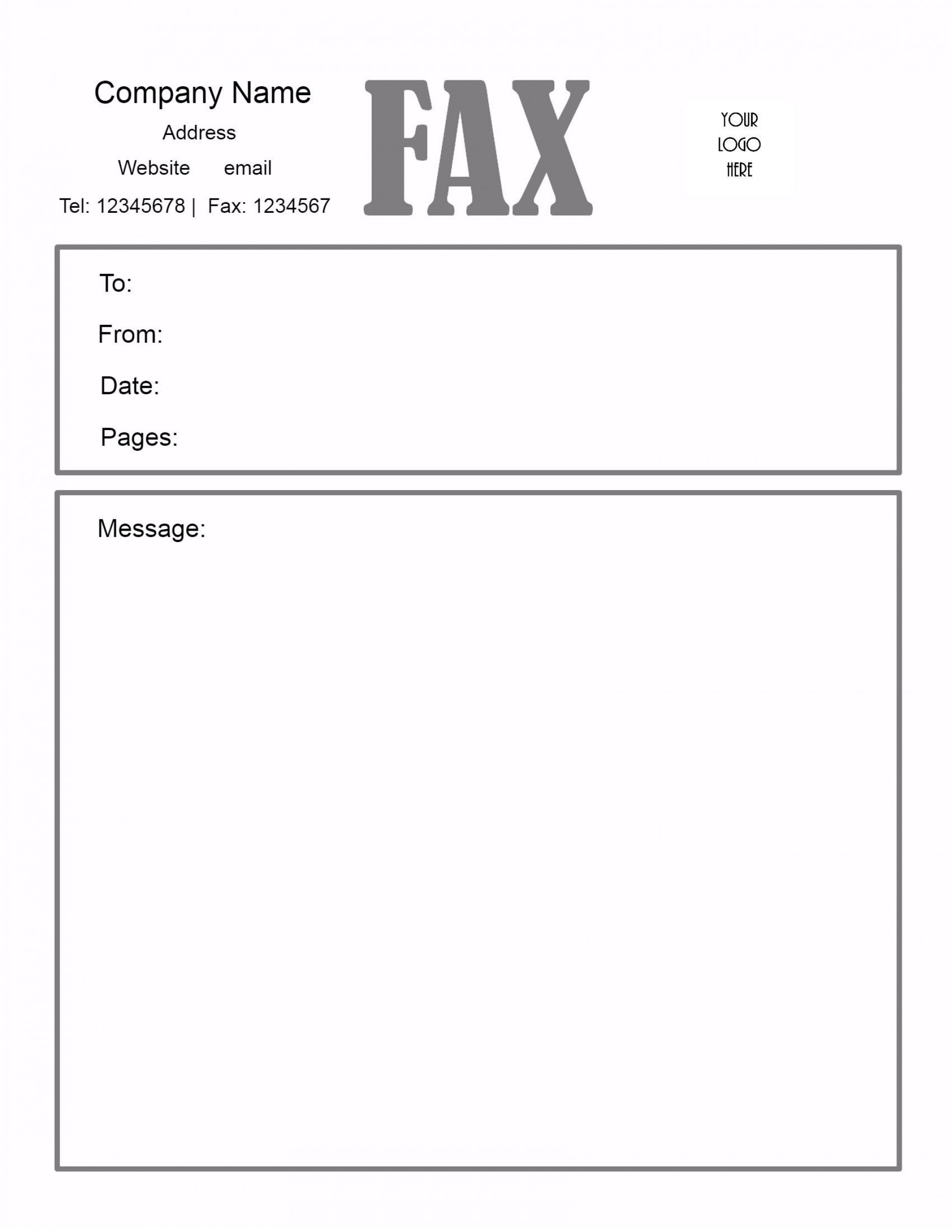 005 Awesome General Fax Cover Letter Template Inspiration  Sheet Word Confidential Example1920