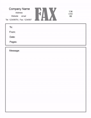 005 Awesome General Fax Cover Letter Template Inspiration  Sheet Word Confidential Example320