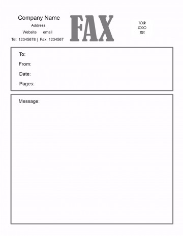 005 Awesome General Fax Cover Letter Template Inspiration  Sheet Word Confidential Example360