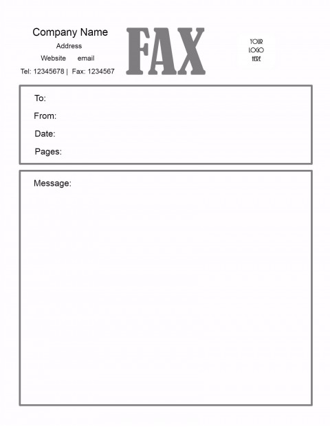 005 Awesome General Fax Cover Letter Template Inspiration  Sheet Word Confidential Example480