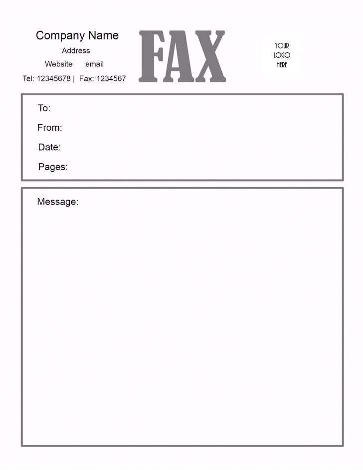 005 Awesome General Fax Cover Letter Template Inspiration  Sheet Word Confidential Example728