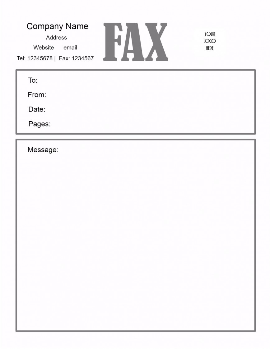 005 Awesome General Fax Cover Letter Template Inspiration  Sheet Word Confidential Example868
