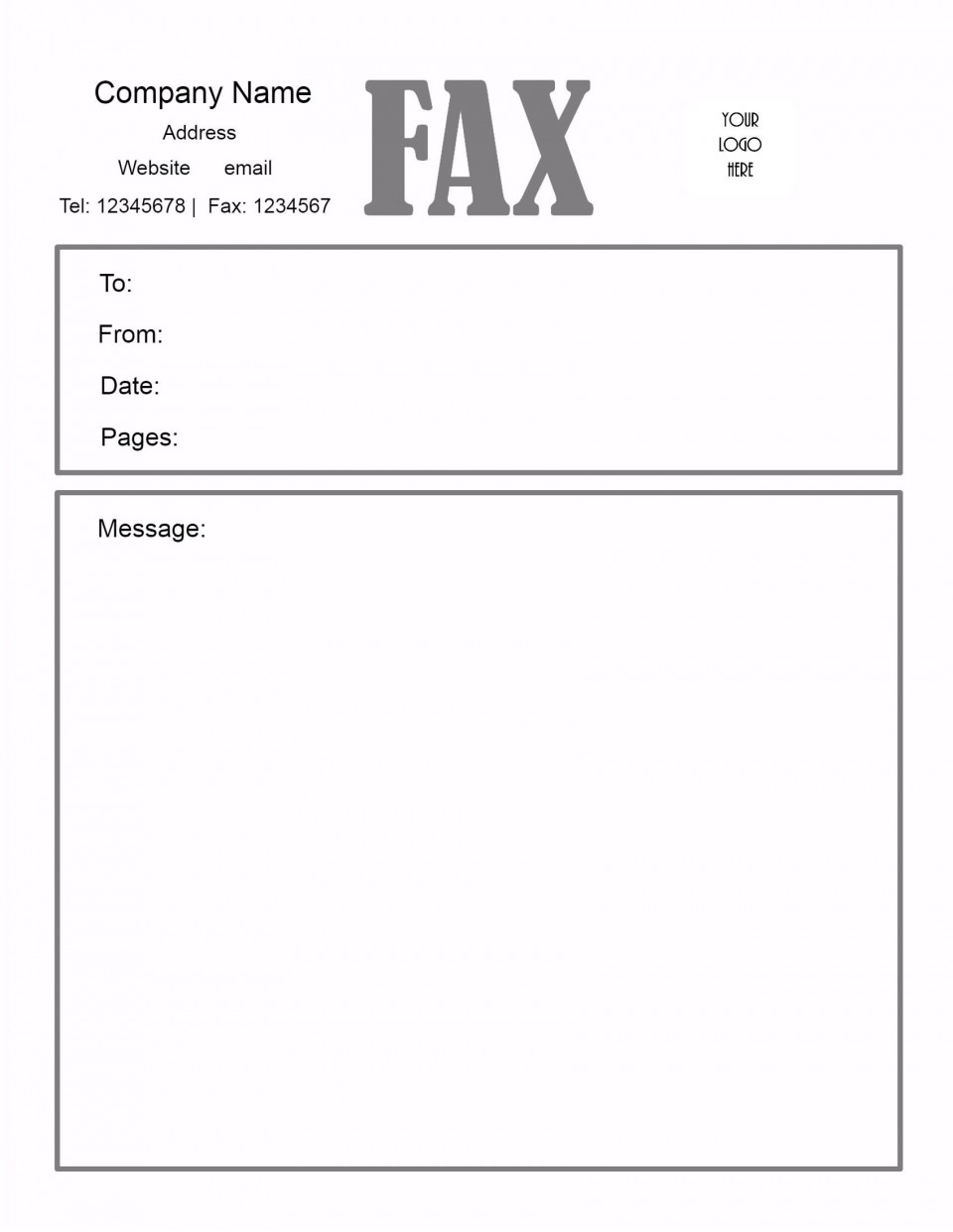 005 Awesome General Fax Cover Letter Template Inspiration  Sheet Word Confidential Example960