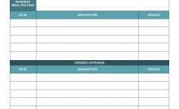 005 Awesome Monthly Busines Expense Template Concept  Sheet Excel Pdf