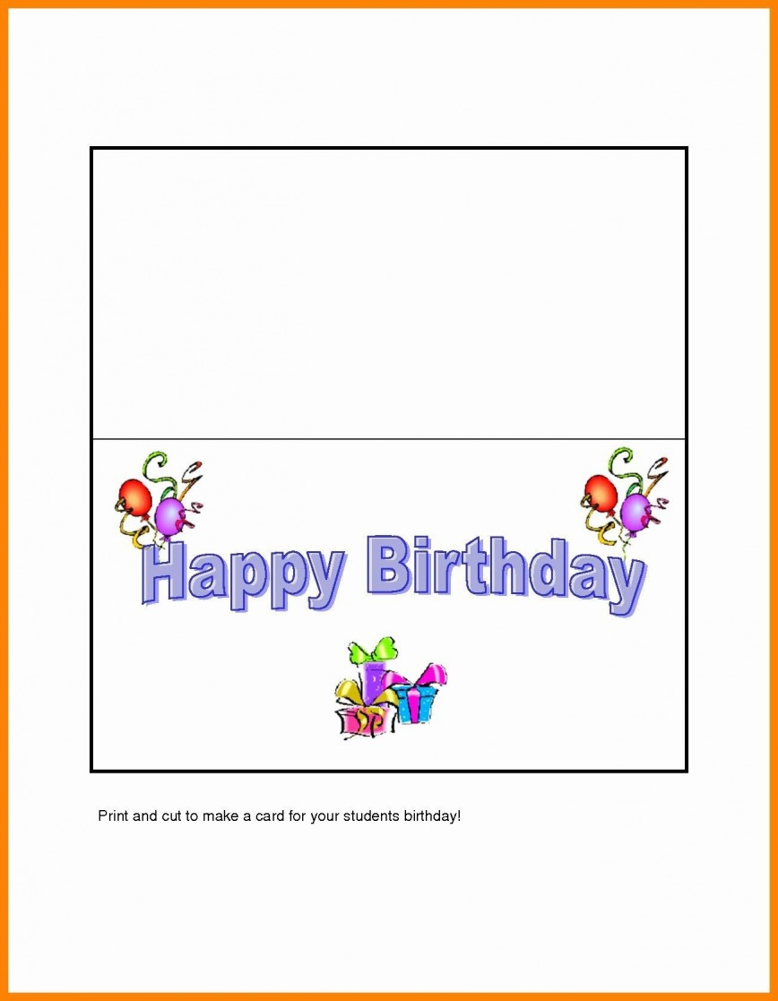 005 Awesome Quarter Fold Greeting Card Template Word Sample