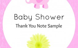 005 Awesome Thank You Note Template Baby Shower Sample  Card Free For Letter Gift