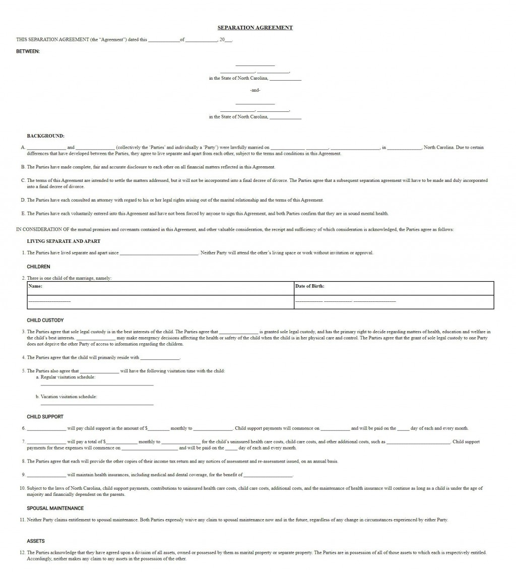 005 Awesome Virginia Separation Agreement Template Image  Marital MarriageLarge