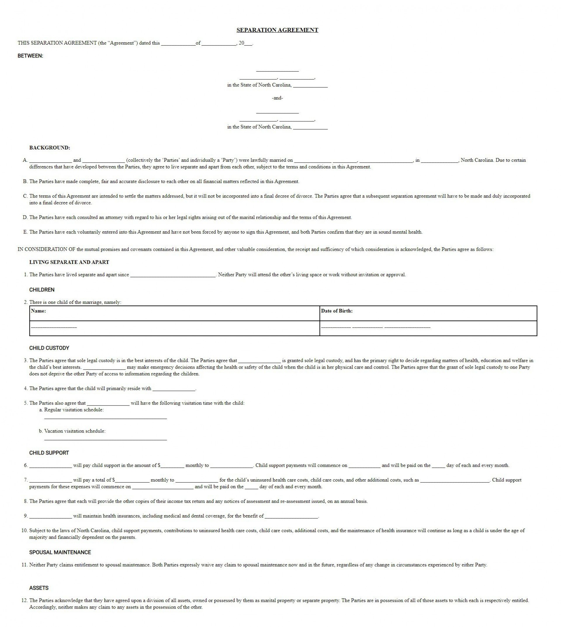 005 Awesome Virginia Separation Agreement Template Image  Marital Marriage1920