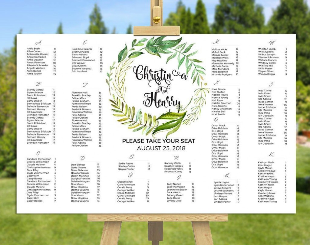 005 Awesome Wedding Seating Chart Template Excel Inspiration  Microsoft Table PlanLarge