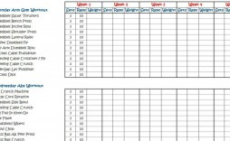005 Awesome Weekly Workout Schedule Template Sample  12 Week Plan Training Calendar
