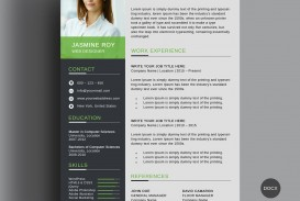 005 Awesome Word Resume Template Free Download Highest Quality  M Creative Curriculum Vitae Cv