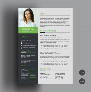 005 Awesome Word Resume Template Free Download Highest Quality  M Creative Curriculum Vitae Cv320