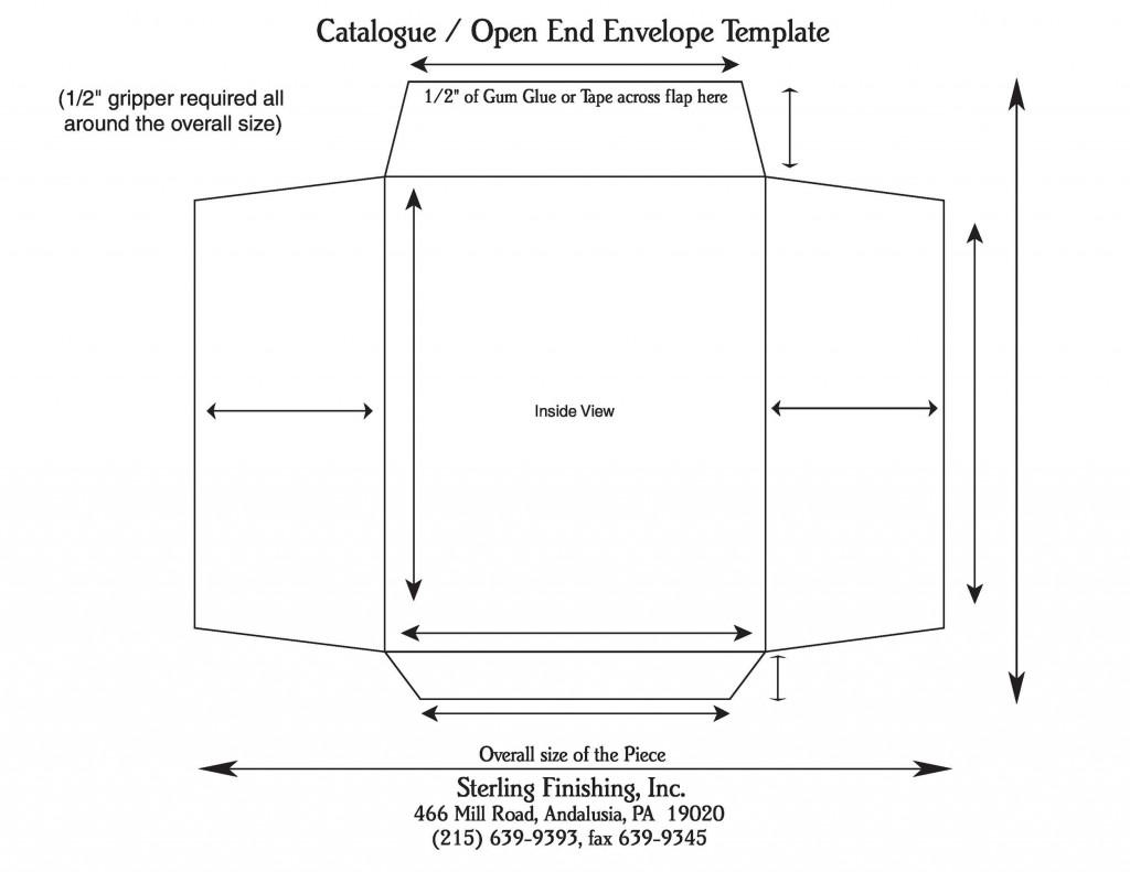 005 Awful 10 Envelope Template Word Example  Size Microsoft #10 Double WindowLarge