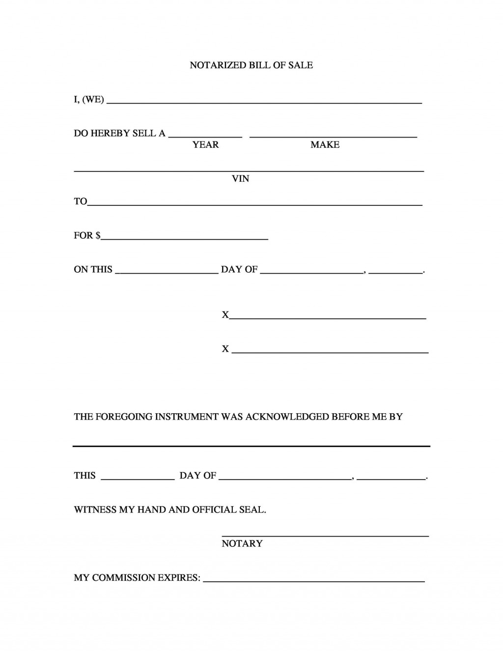 005 Awful Auto Bill Of Sale Template Idea  Word Free Texa Form Pdf Vehicle Fillable CanadaLarge