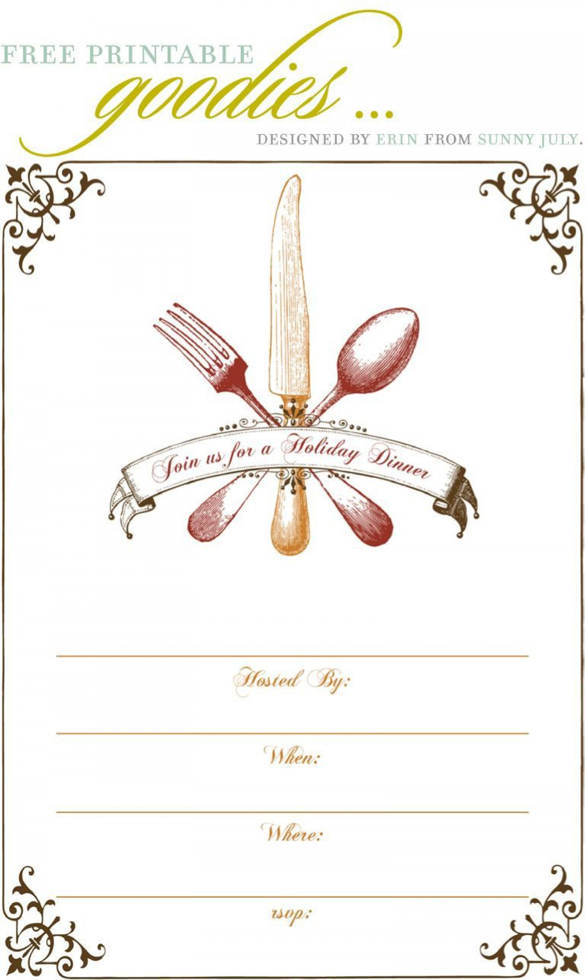 Dinner Party Invitation Templates ~ Addictionary