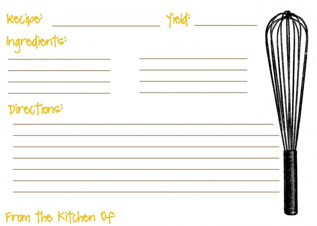 005 Awful Editable Recipe Card Template Picture  Free For Microsoft Word 4x6 PageLarge