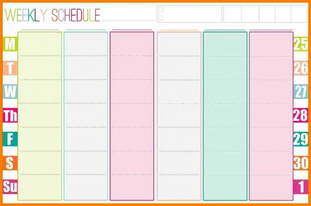 005 Awful Excel Weekly Planner Template 2019 Picture  HolidayLarge