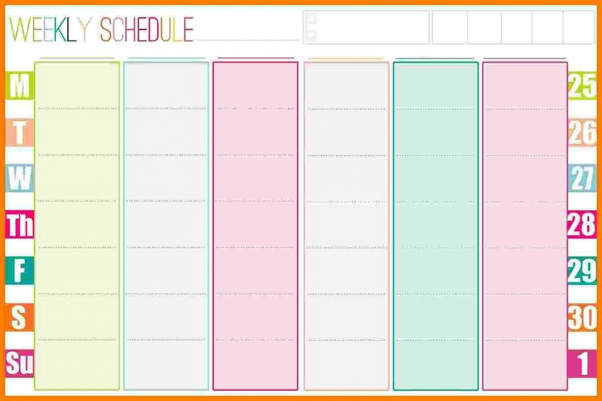 005 Awful Excel Weekly Planner Template 2019 Picture  Holiday1920