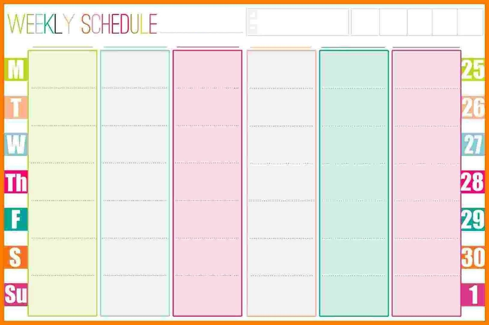 005 Awful Excel Weekly Planner Template 2019 Picture  HolidayFull