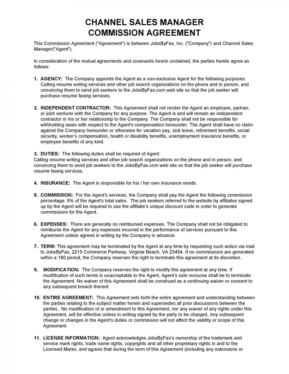 005 Awful Free Basic Employment Contract Template South Africa Example  Temporary960