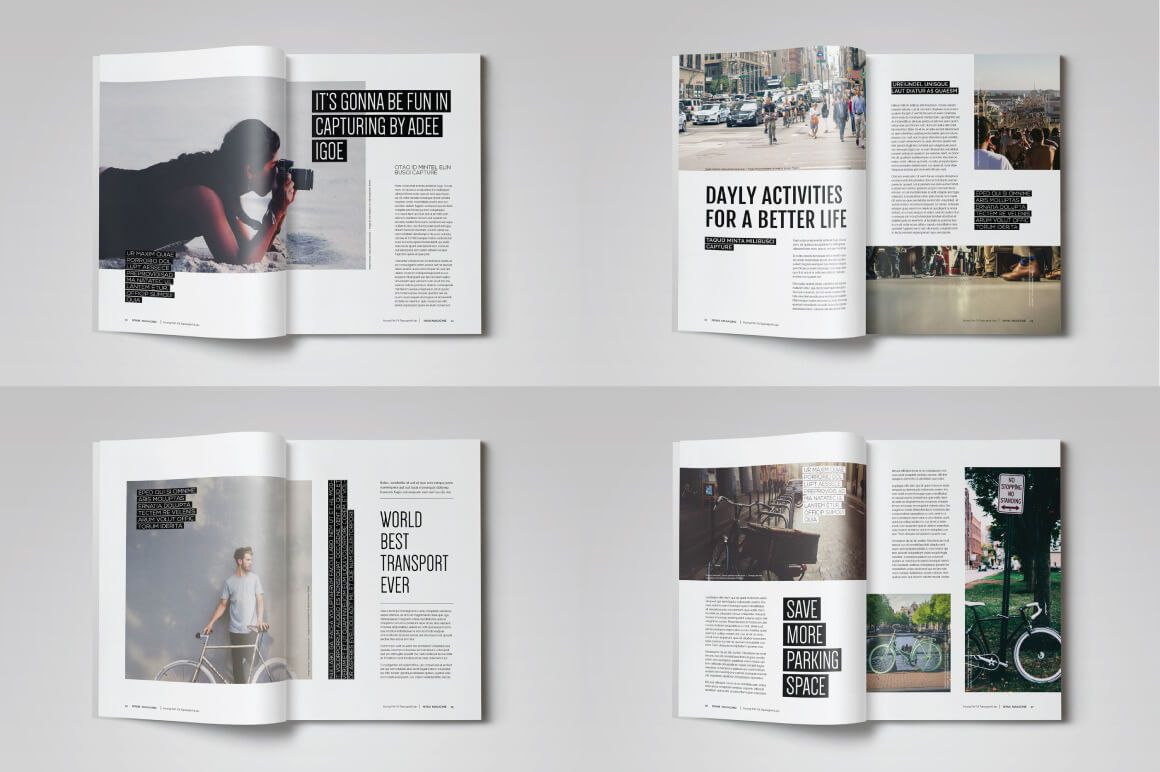 005 Awful Free Magazine Article Layout Template For Word Image Full