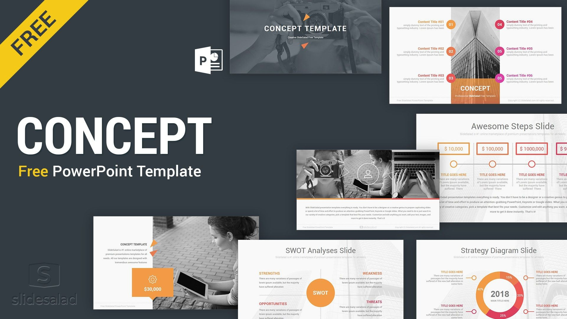 005 Awful Free Powerpoint Presentation Template Image  Templates 22 Slide For The Perfect Busines Strategy Download Engineering1920