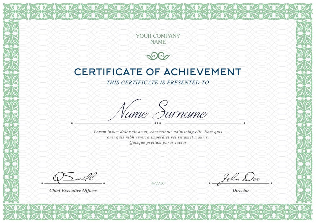 005 Awful Free Template For Certificate Design  Certificates Online Of Completion Attendance Printable ParticipationLarge