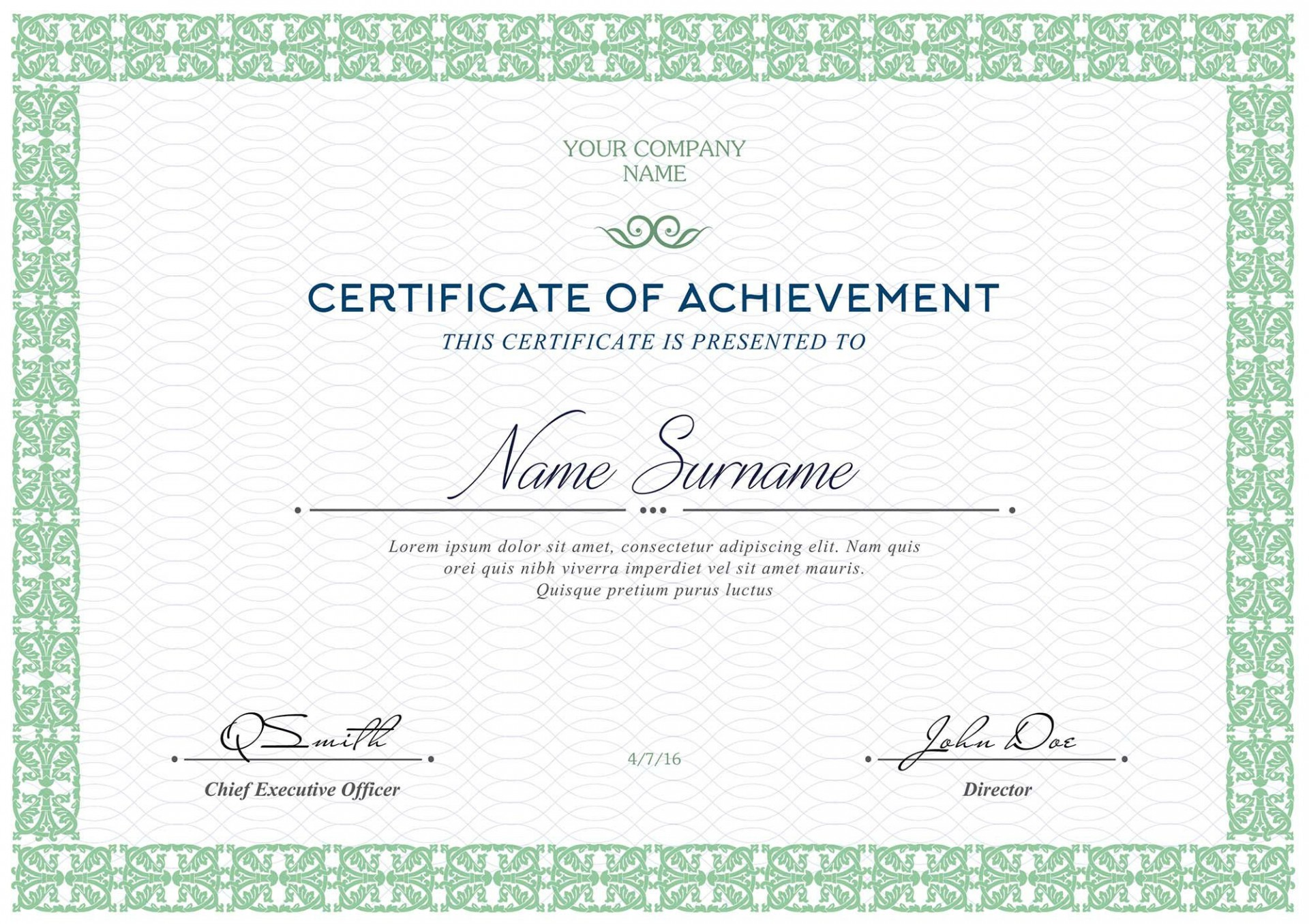 005 Awful Free Template For Certificate Design  Certificates Online Of Completion Attendance Printable Participation1920
