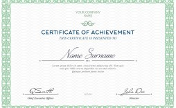 005 Awful Free Template For Certificate Design  Certificates Online Of Completion Attendance Printable Participation