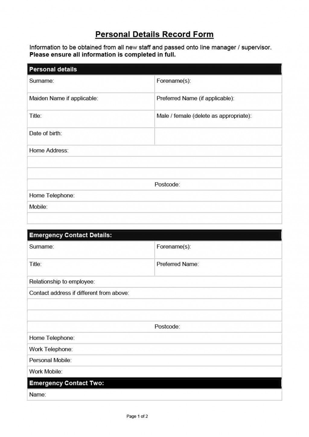 005 Awful New Hire Form Template Image  Application Document Checklist WordLarge