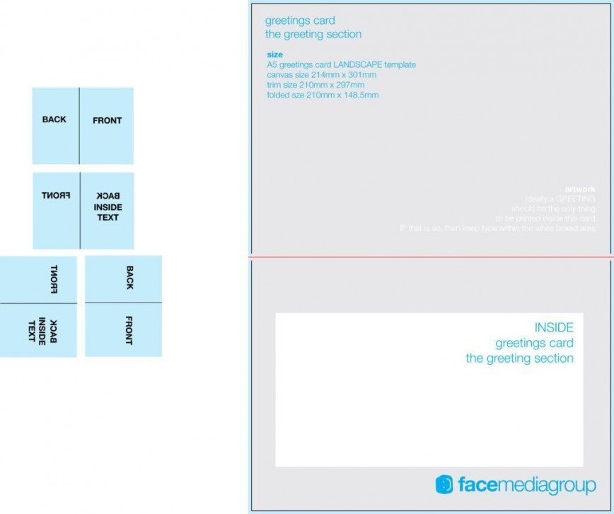 005 Awful Quarter Fold Card Template Word Blank High Resolution