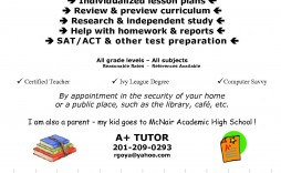 005 Awful Tutoring Flyer Template Free Example  Word Math