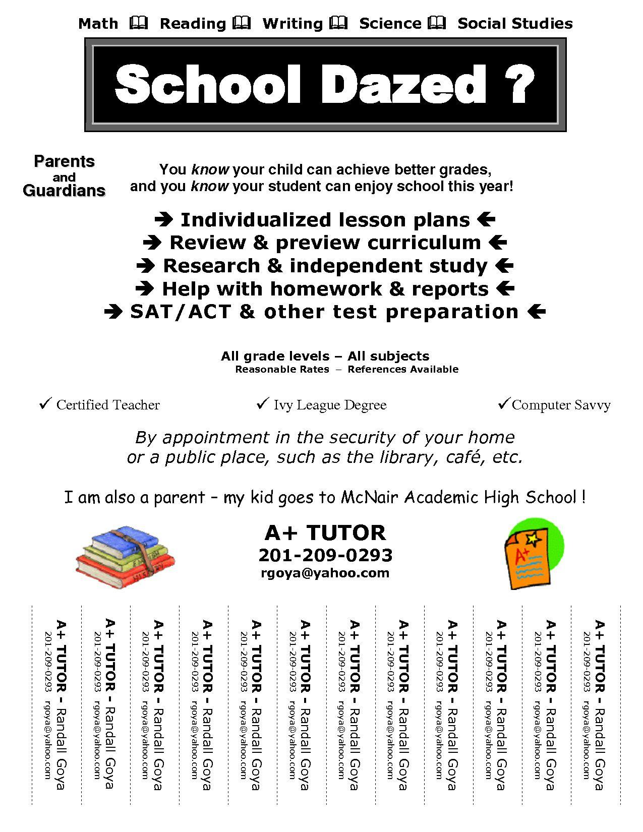 005 Awful Tutoring Flyer Template Free Example  Word MathFull