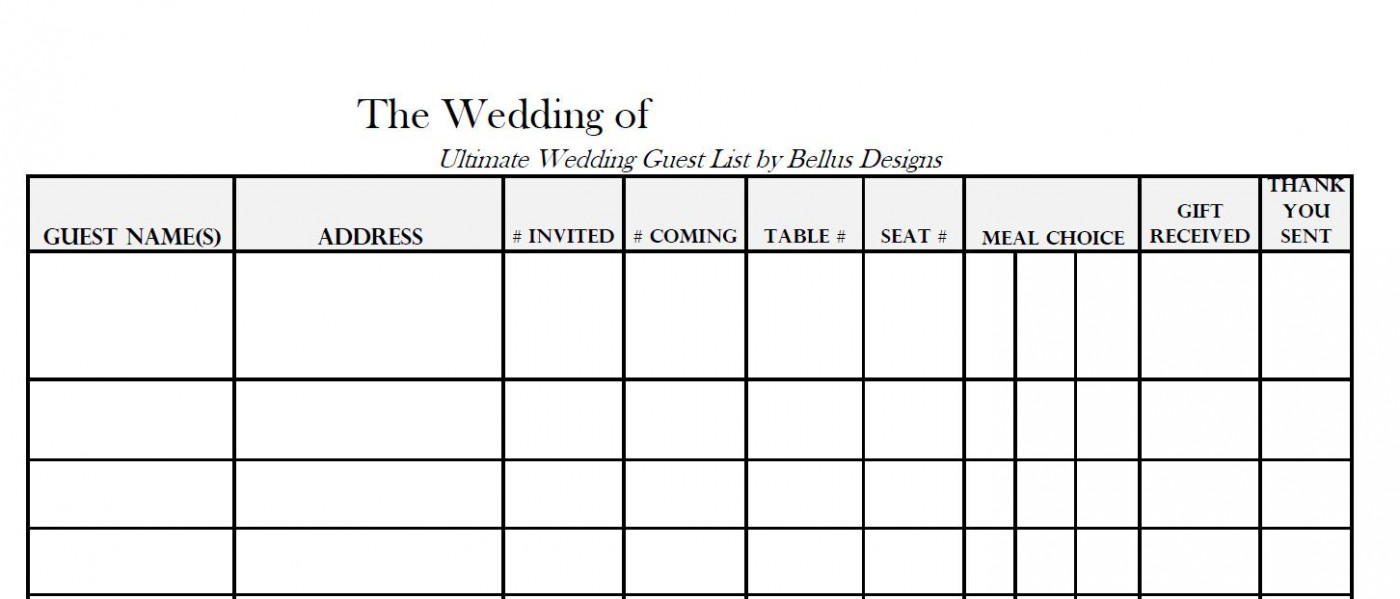 005 Awful Wedding Guest List Excel Spreadsheet Template Highest Clarity 1400