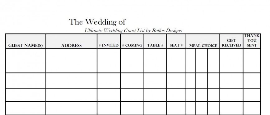 005 Awful Wedding Guest List Excel Spreadsheet Template Highest Clarity 868