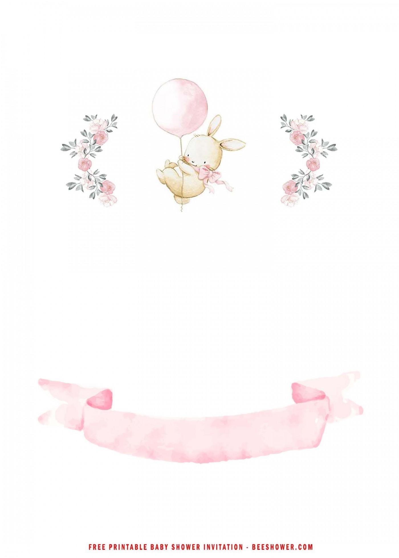 005 Beautiful Baby Shower Invitation Girl Free Printable Idea  Twin1400