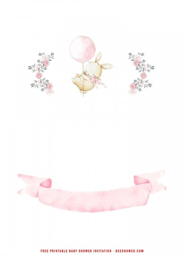 005 Beautiful Baby Shower Invitation Girl Free Printable Idea  Twin360