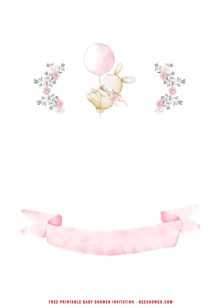 005 Beautiful Baby Shower Invitation Girl Free Printable Idea  Twin728