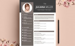 005 Beautiful Creative Resume Template Free Microsoft Word Design  Download For Fresher