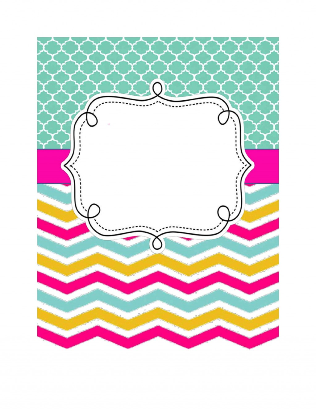 005 Beautiful Cute Binder Cover Template Free Printable Photo Large