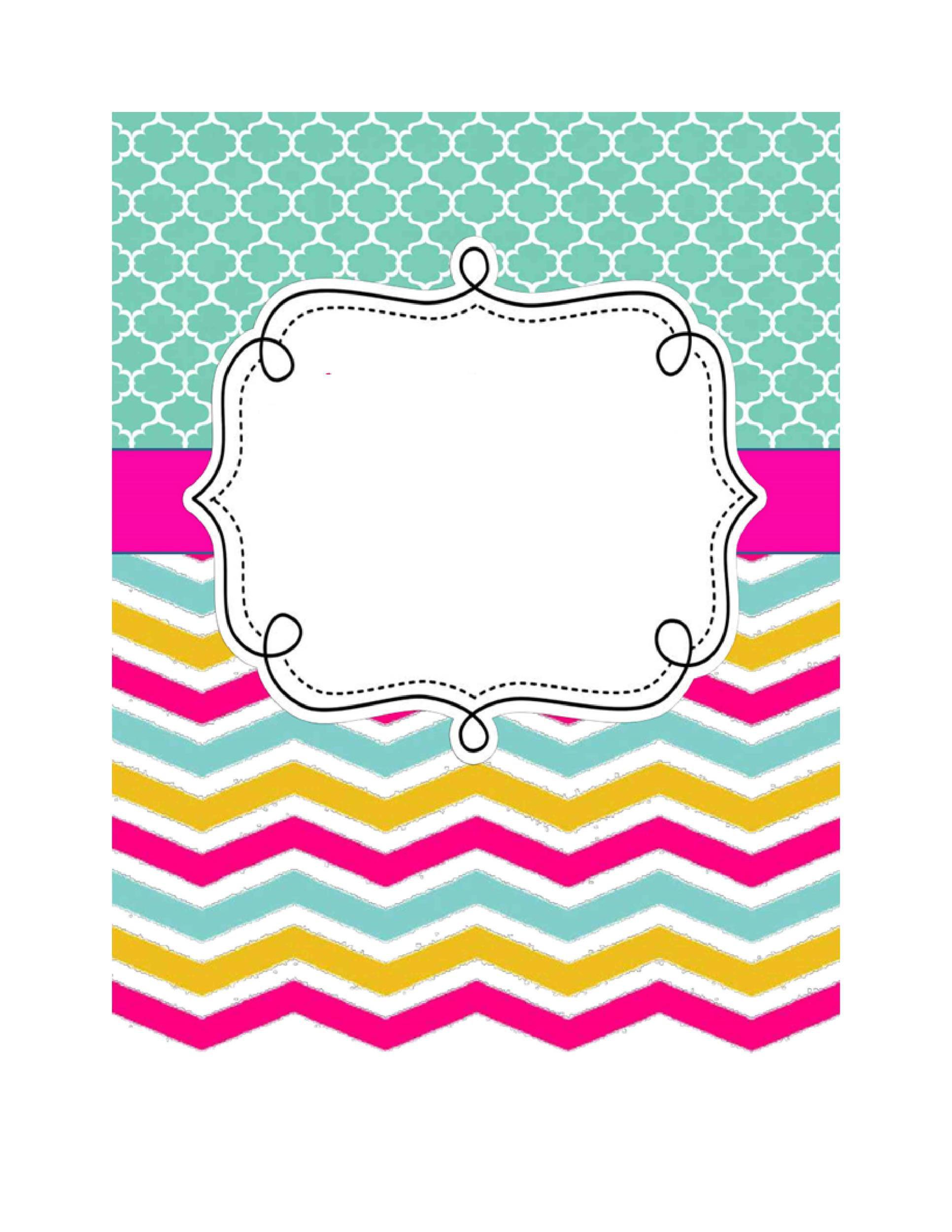 005 Beautiful Cute Binder Cover Template Free Printable Photo Full