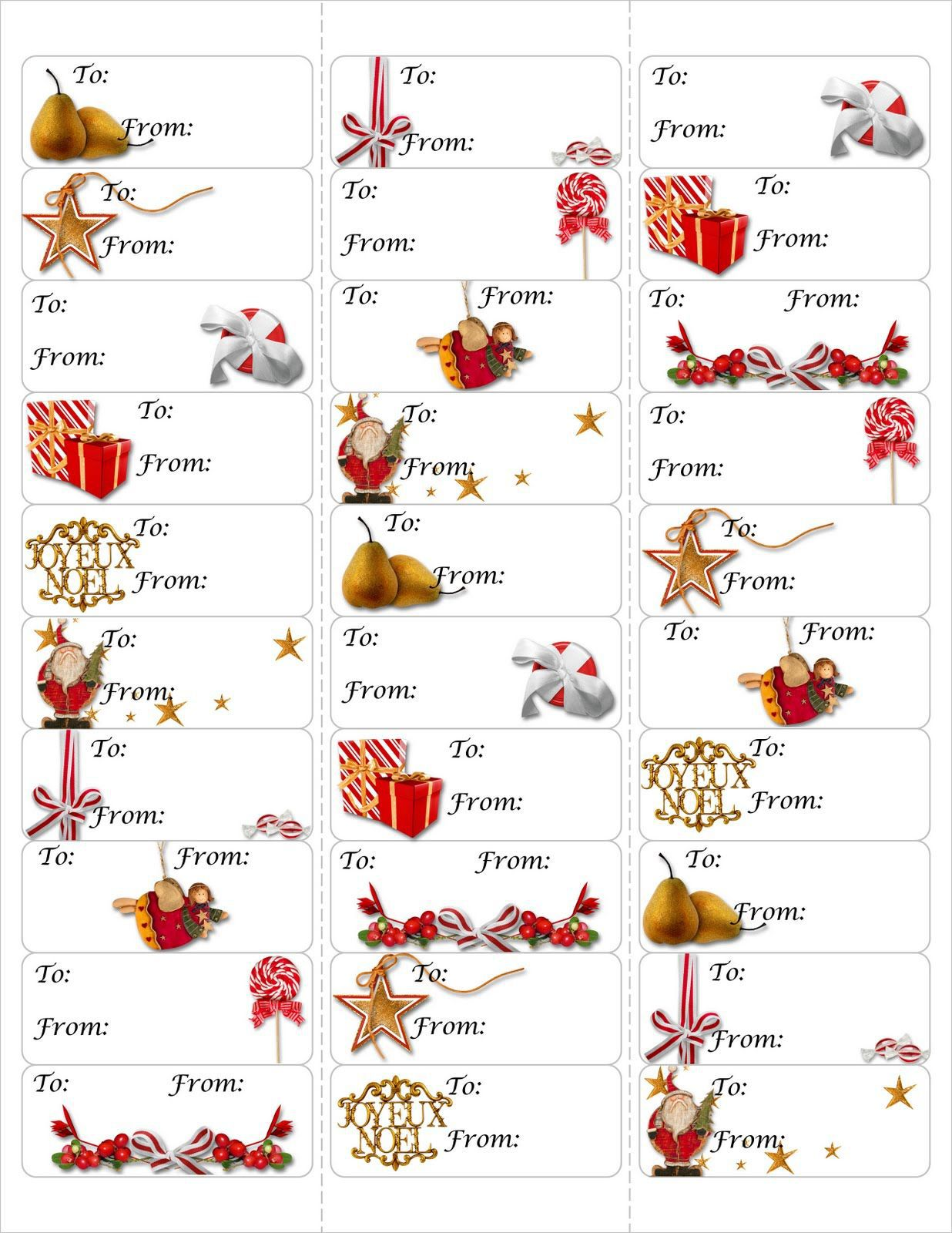 005 Beautiful Free Download Christma Addres Label Template Picture  TemplatesFull