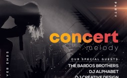 005 Beautiful Free Photoshop Concert Poster Template Design  Templates