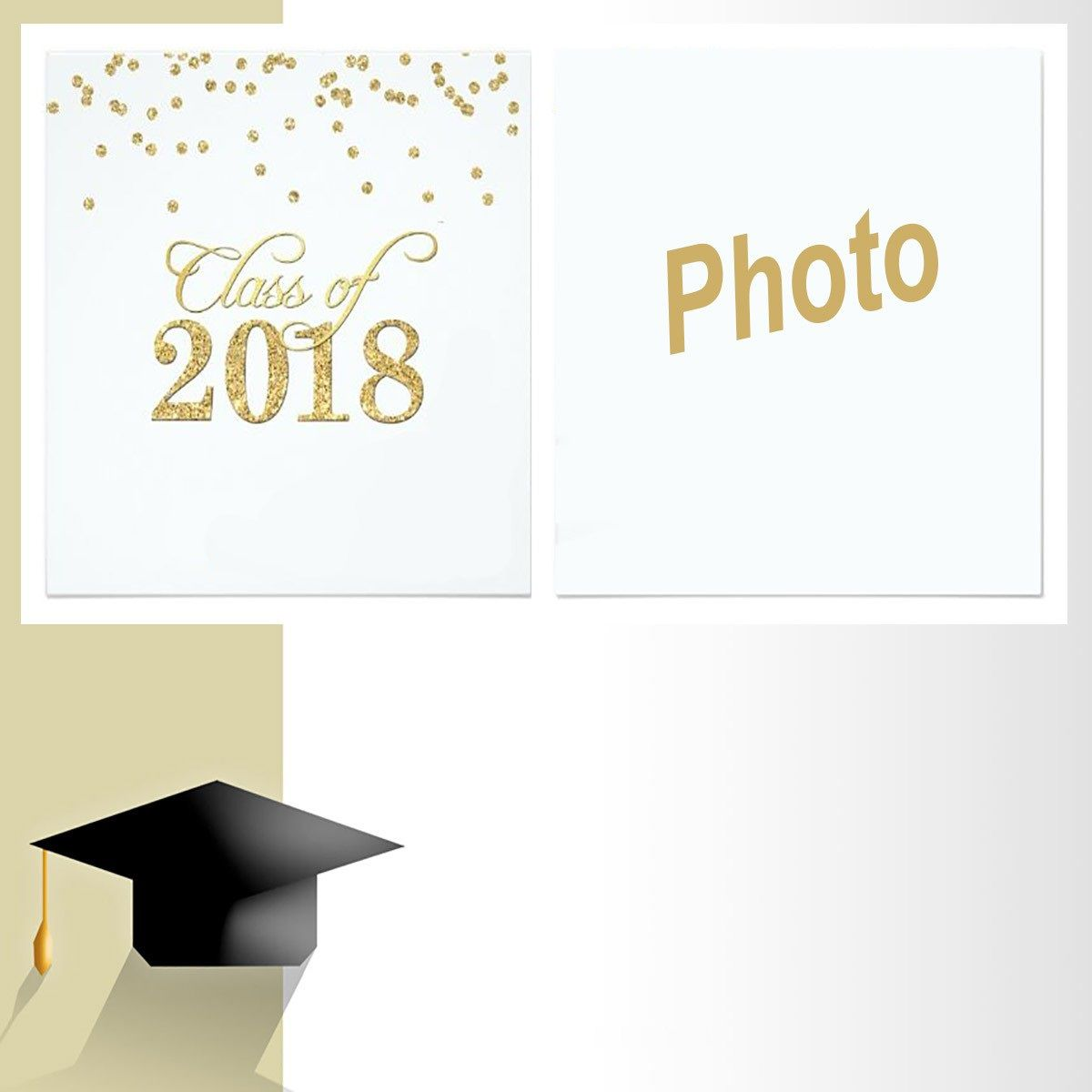 005 Beautiful Free Printable Graduation Invitation Template Photo  Preschool Card 2019