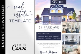 005 Beautiful House For Sale Flyer Template Sample  Free Real Estate Example By Owner