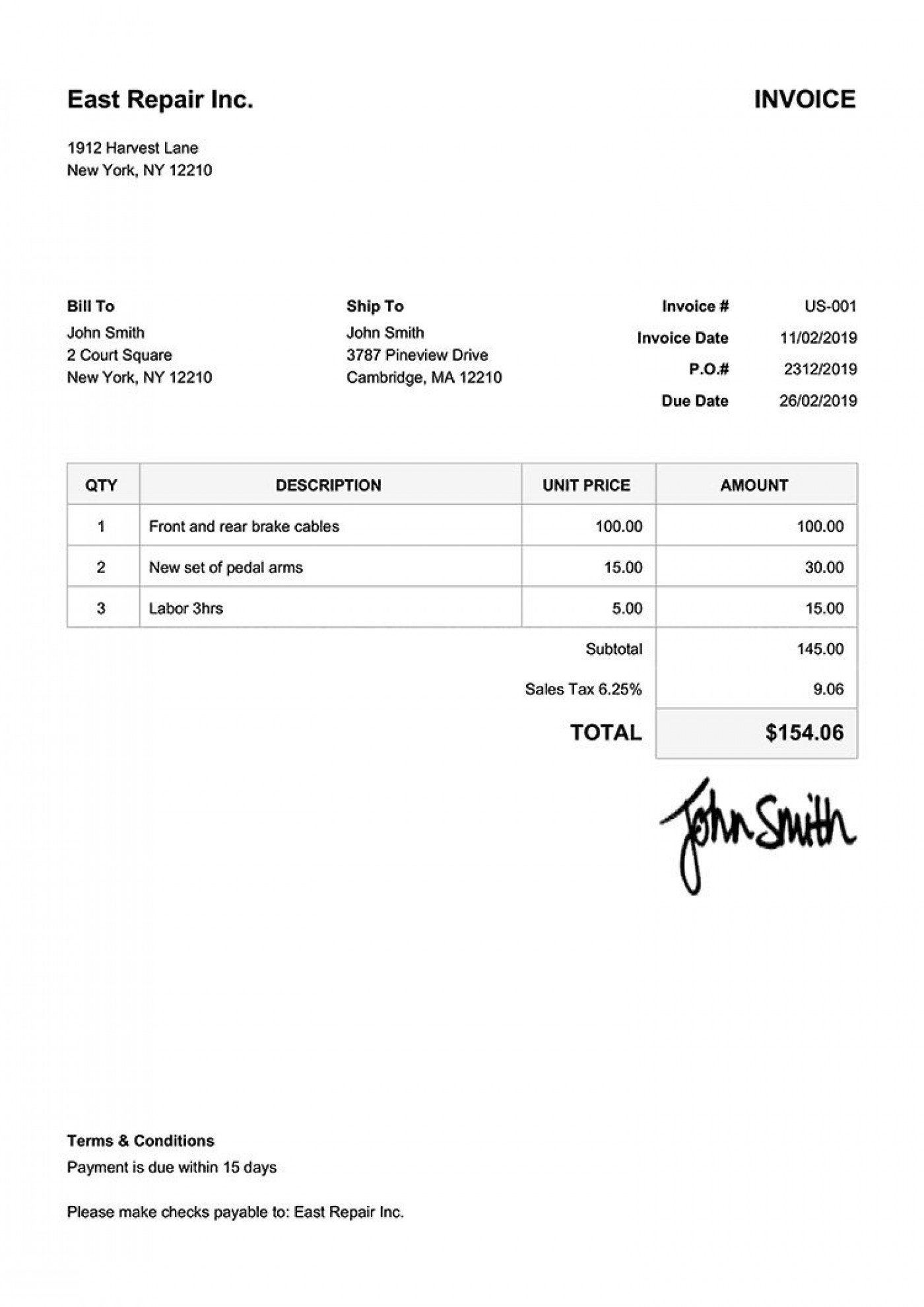 005 Beautiful Invoice Template Free Download Inspiration  Excel Service Word Format Gst Html1400
