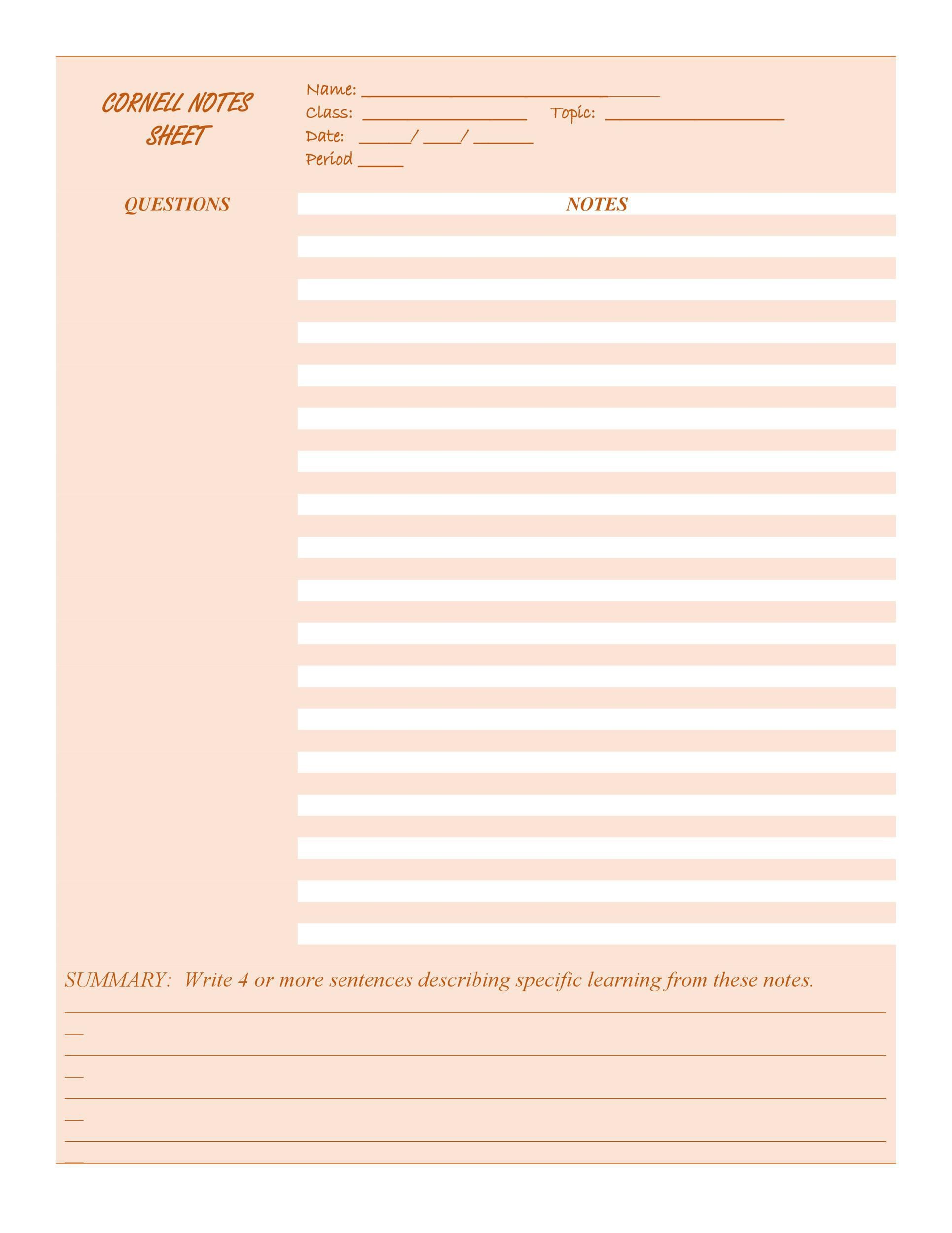 005 Beautiful Law School Note Taking Template Picture Full