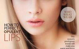 005 Beautiful Photoshop Fashion Magazine Cover Template Free Sample