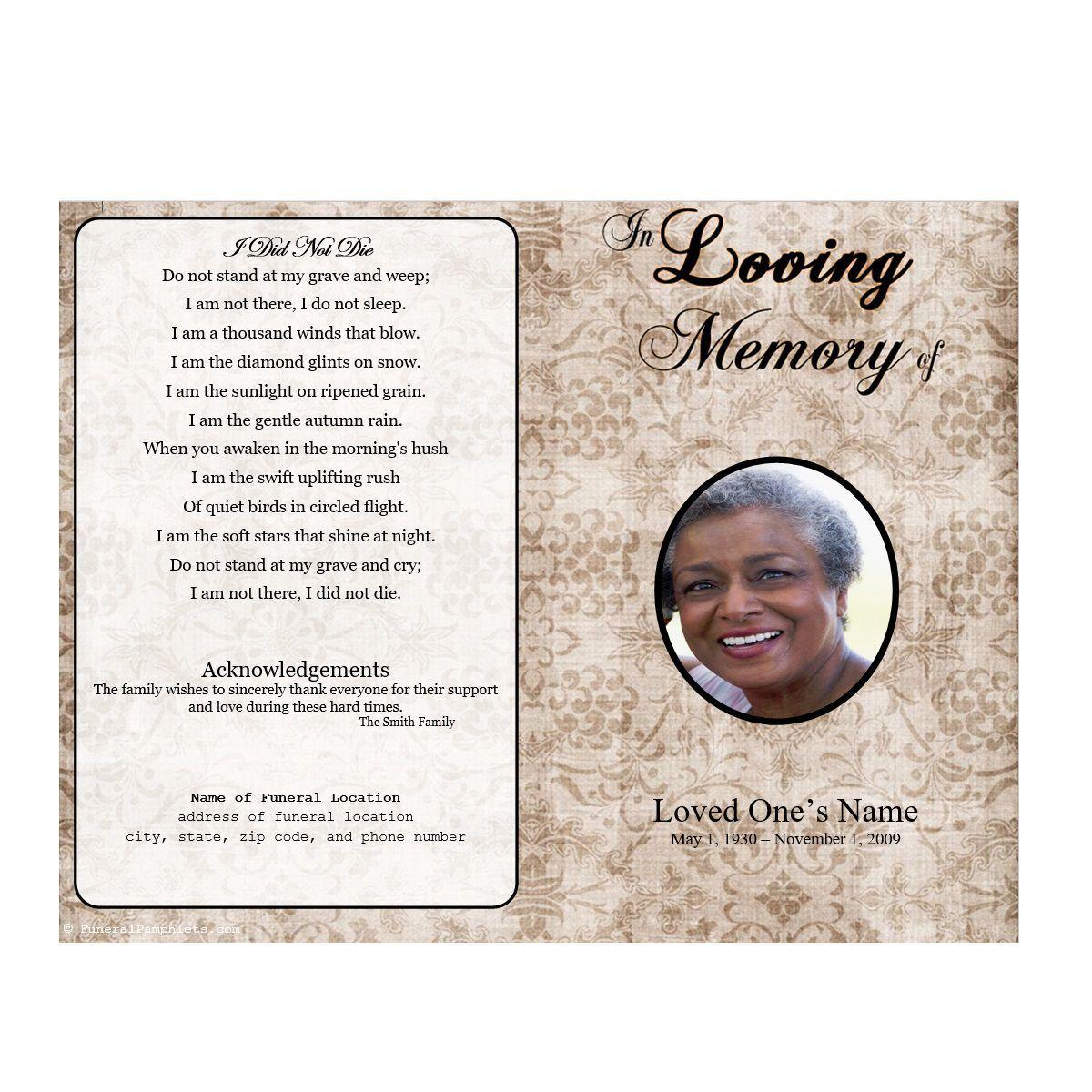 005 Beautiful Sample Wording For Funeral Program High Resolution  ProgramsFull